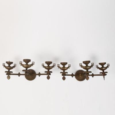 Paire d'appliques en bronze, XIXe