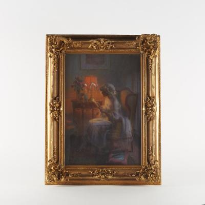 Jean Antoine Injalbert (1845-1933), Pastel, XIXe