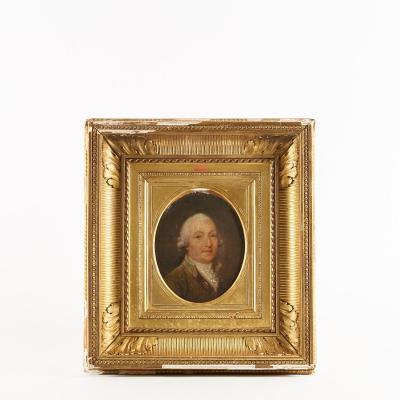 Paire de portraits, Homme et Dame, huile sur toile, XIXe