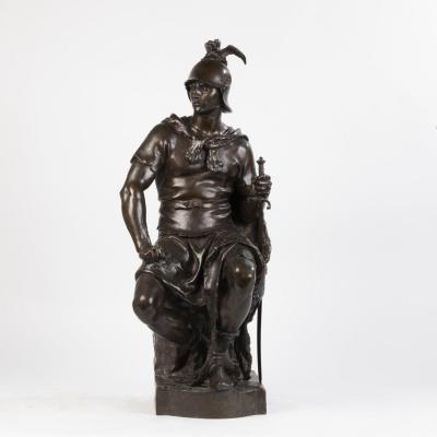Paul Dubois (1829-1905) et Ferdinand Barbedienne (1810-1892), Le courage militaire, bronze, XIXe