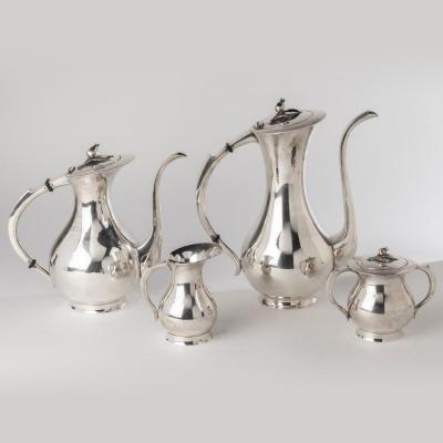 Service à thé et à café, Art Nouveau, en argent, XXe