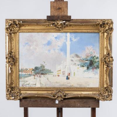Manuel Orazi (1860-1934), Paire de paysages d'Istambul, XIXe
