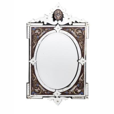Miroir de Murano polychrome, XIXe