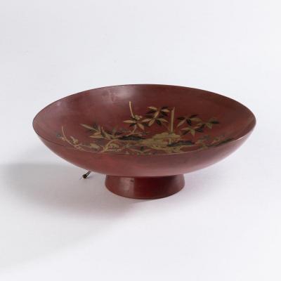Coupe en laque, Japon, XIXe