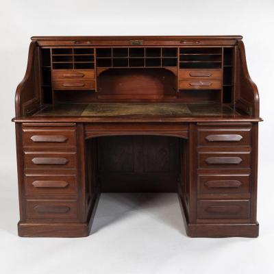 Bureau américain à cylindre de marque Derby Desk, XXe