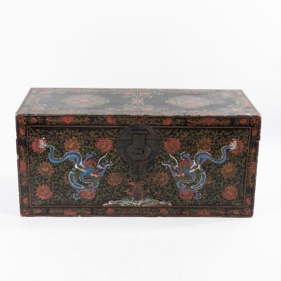 Coffre laqué aux dragons, Chine, XIXe