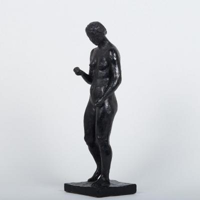 Lucien Gibert (1904-1988), Nue debout, plâtre patiné, XXe