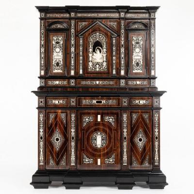 Buffet à deux corps en palissandre néo-Renaissance, XIXe