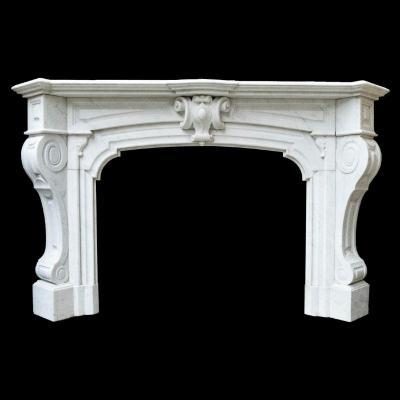 Cheminées d'époque Napoléon III en marbre de carrare, XIXe