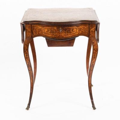 Table à deux rabats marquetée, XIXe