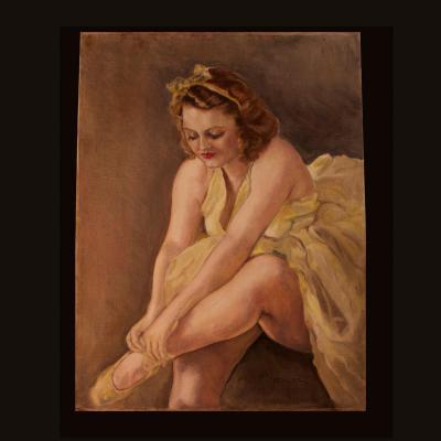 """Fried Pal (1893-1976), huile Sur Toile """"Ballerine"""", XXe"""