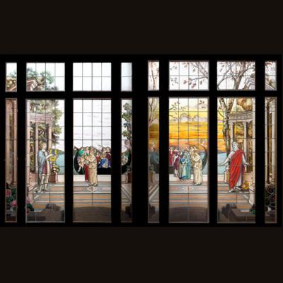 """Paire de vitraux """"Ulysse"""", Fin XIXe"""