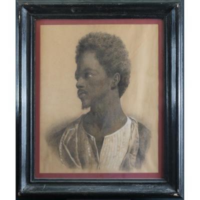 Portrait d'Un Beau Jeune Homme Noir