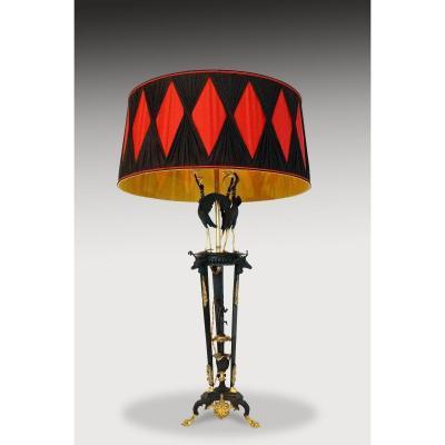 Grande Lampe De Style Étrusque