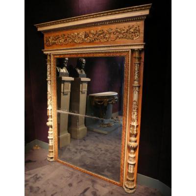 Miroir Trumeau D'époque Néo-classique Fin XVIIIe Siècle, Italie