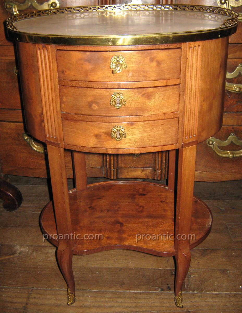 Small Antique Table Transition Louis XV Louis XVI Mahogany Stamped Cosson.