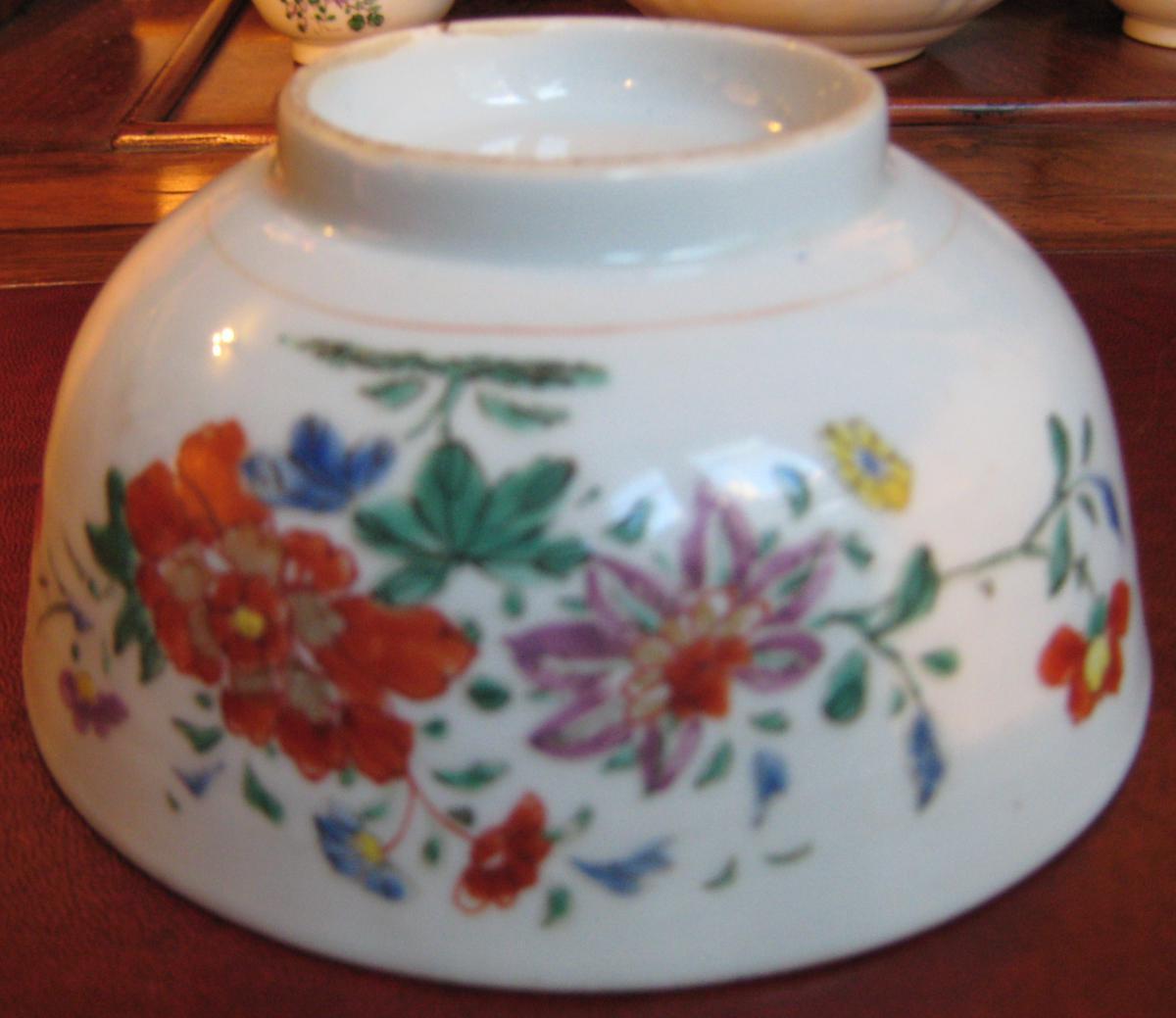 Bol en porcelaine de Chine, Compagnie des Indes, époque XVII