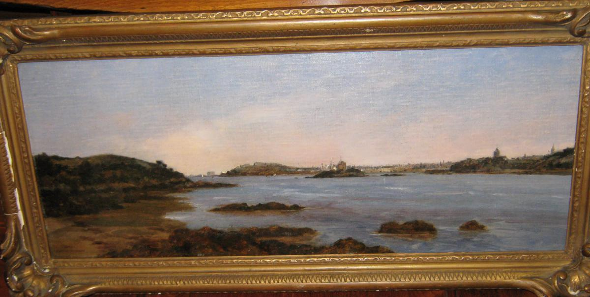 """""""view Of St. Malo From La Rance"""" (quartier Saint-servan) By Gaston Roullet."""