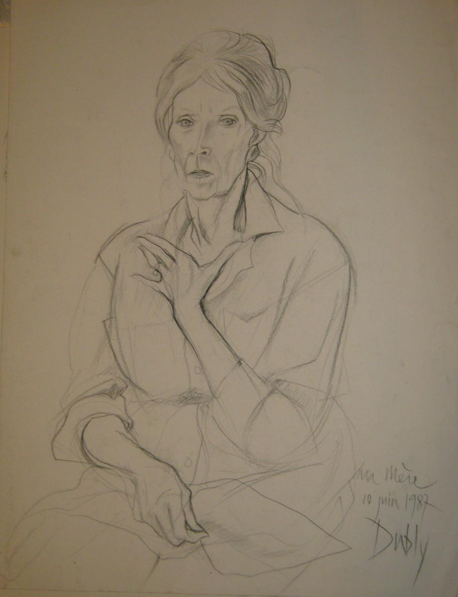 """Hervé Dubly: Drawing Pencil In """"my Mother"""""""