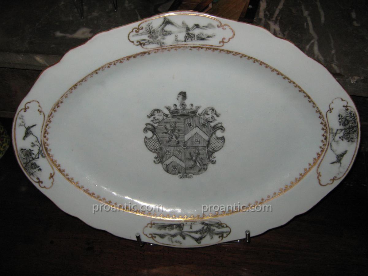 Armorial Dish Eighteenth De La Compagnie Des Indes