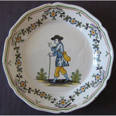 Assiette Révolutionnaire En Faïence De Nevers, Fin XVIIIème Début XIXème.