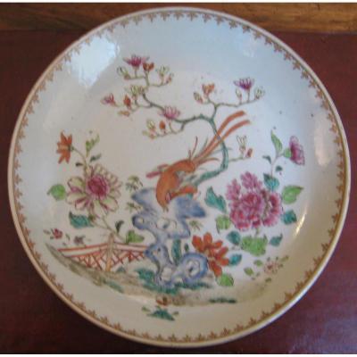 Assiette De La Compagnie Des Indes époque Qianlong, XVIIIème.