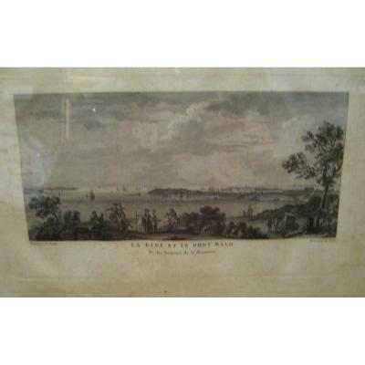 "Print: ""rade And The Port Of Saint-malo, View From The Heights Of Briantais"""