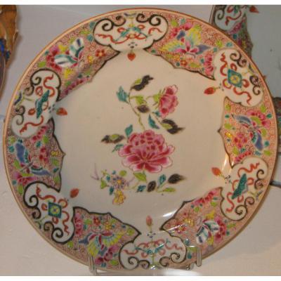 Assiette En Porcelaine De Chine d'époque XVIII Eme Siècle.