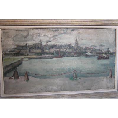 Le port de Saint-Malo, bassin Vauban, vers 1935