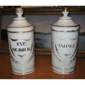 Pots à Pharmacie XIXème