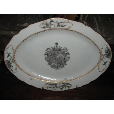 Armorial Dish Eighteenth De La Compagnie Des Indes
