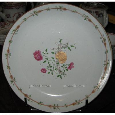 Assiette Calotte De La Compagnie Des Indes, époque XVIIIeme Siècle
