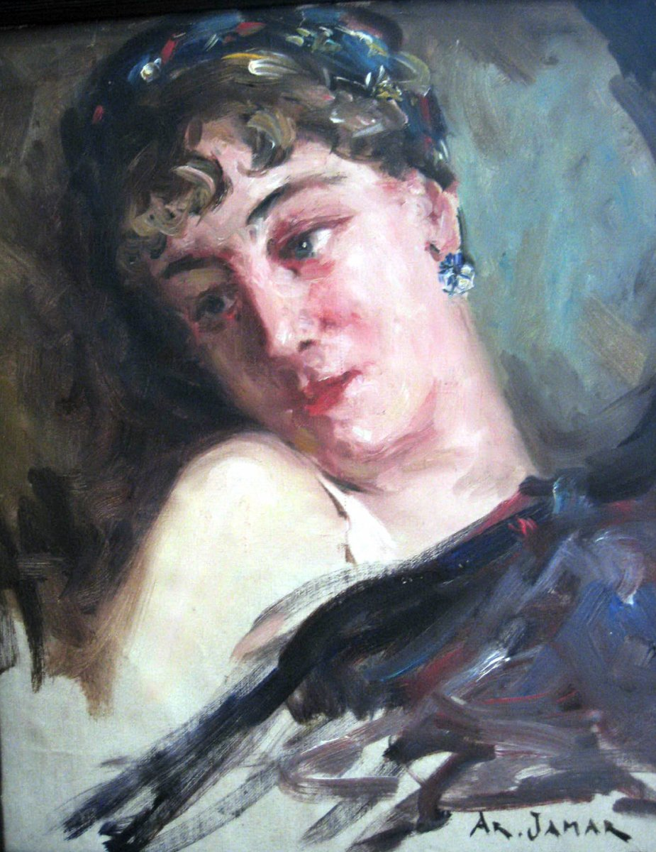 Jamar Armand - Oil On Canvas - Belgian School