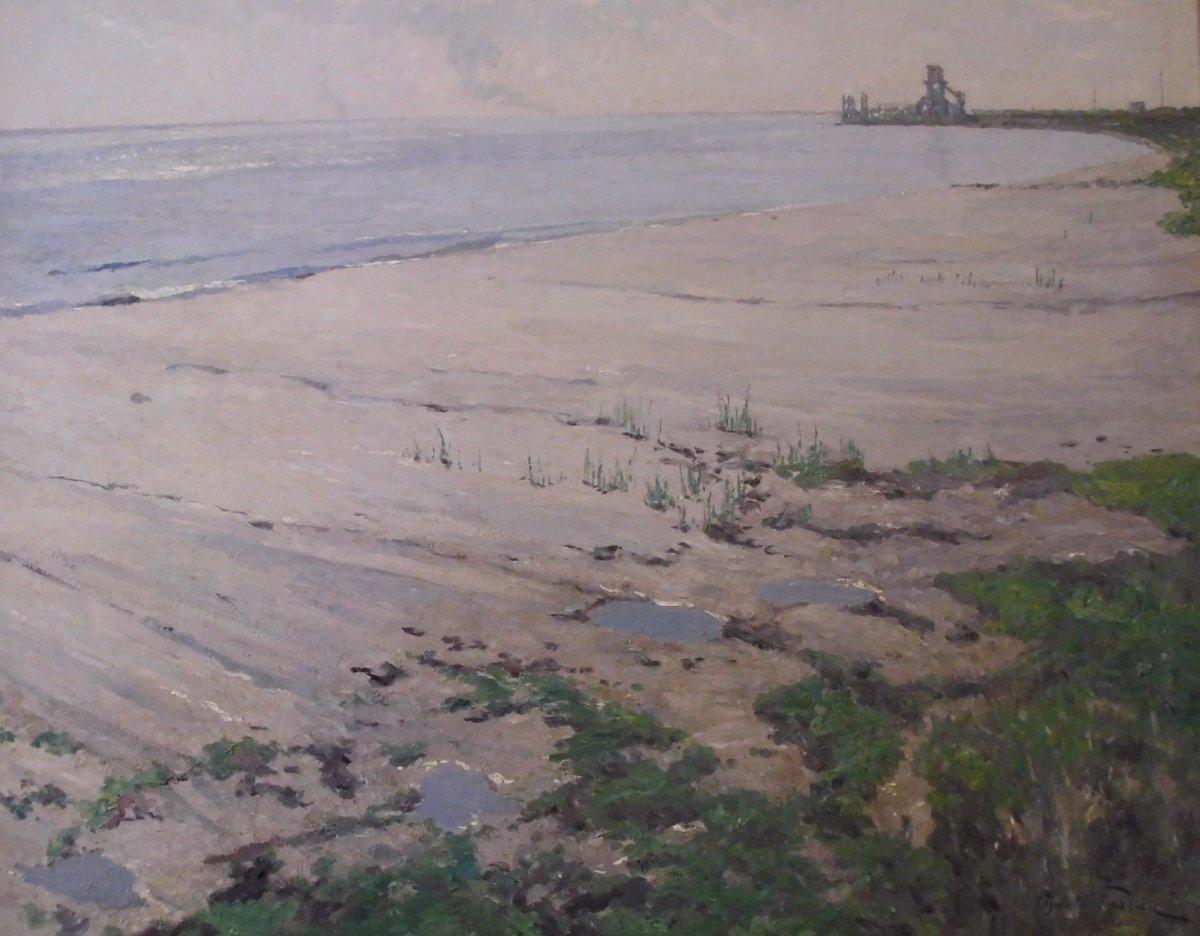 Oil On Canvas - Signed Oswald Poreau - Belgian School - XX Th