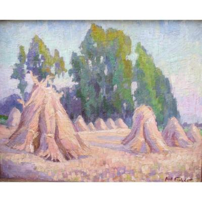 Oil On Canvas Signed Fischer P.