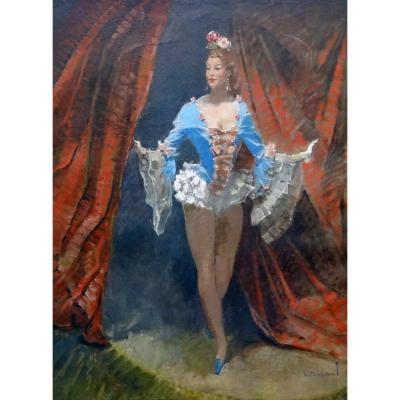 Massonet A - The Dancer- Oil On Canvas- Belgian School