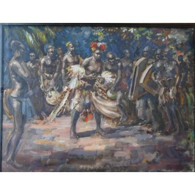 Oil On Paper - Unsigned - Circa 1930