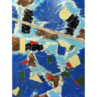 Abstrait - Composition Mixte - Sur Panneaux - Non Signée