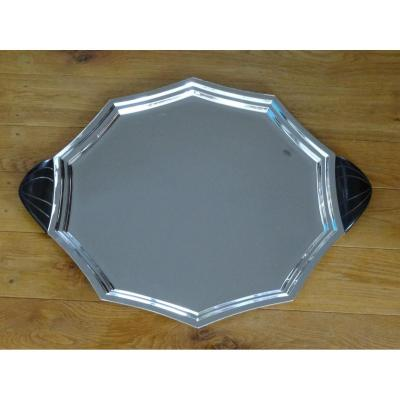 Tray - Silver Metal - Art Deco - Mom Dufrene For Christofle
