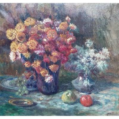 Londot Léon (1878-1953) - Oil On Canvas - Belgian School - Les Immortelles