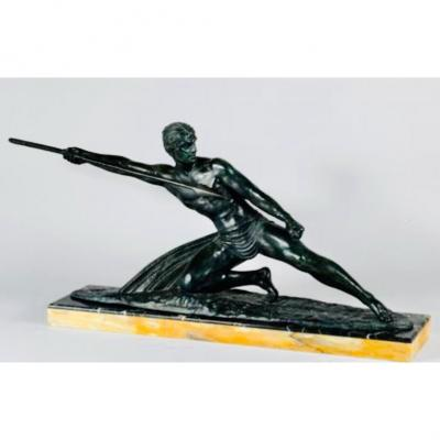 Unusually 1930 Large Bronze By Demeter Chiparus Of 104cm Length  !