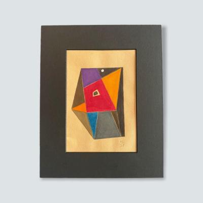 Rare Work By Kurt Levy (1898 - 1963) Abstract Great Value Dated 1957