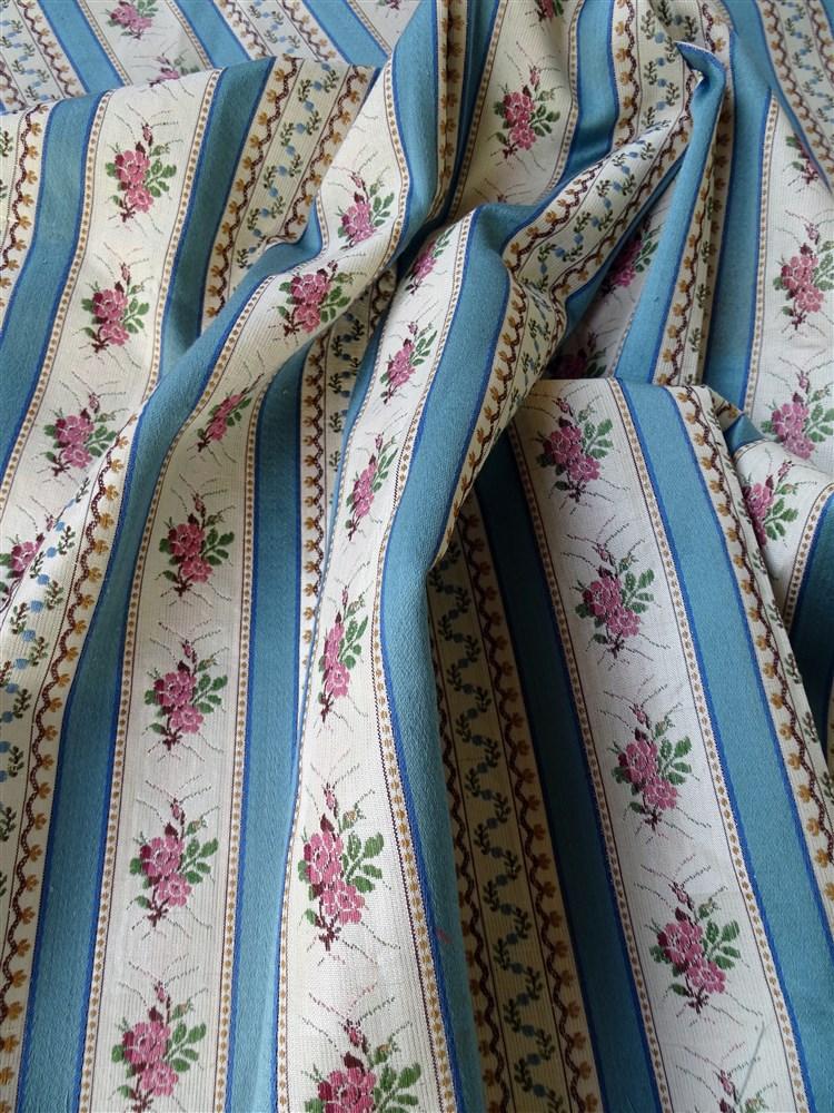 Métrage Tissus Ancien Style Marie Antoinette Jacquard Soie Et Coton