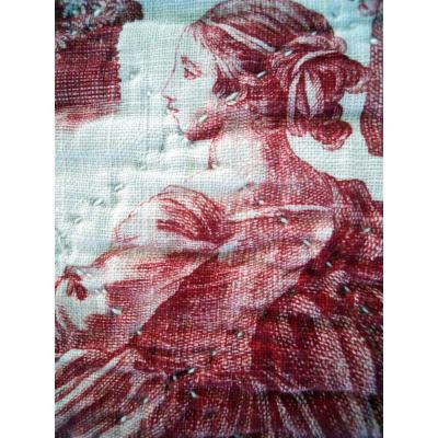 Canvas Jouy Cantoniere 18th Time Lined Canvas Of Flax