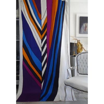 1972 Knoll International Thick Cotton Canvas For Gretl Hanging And Leo Wolner Designer