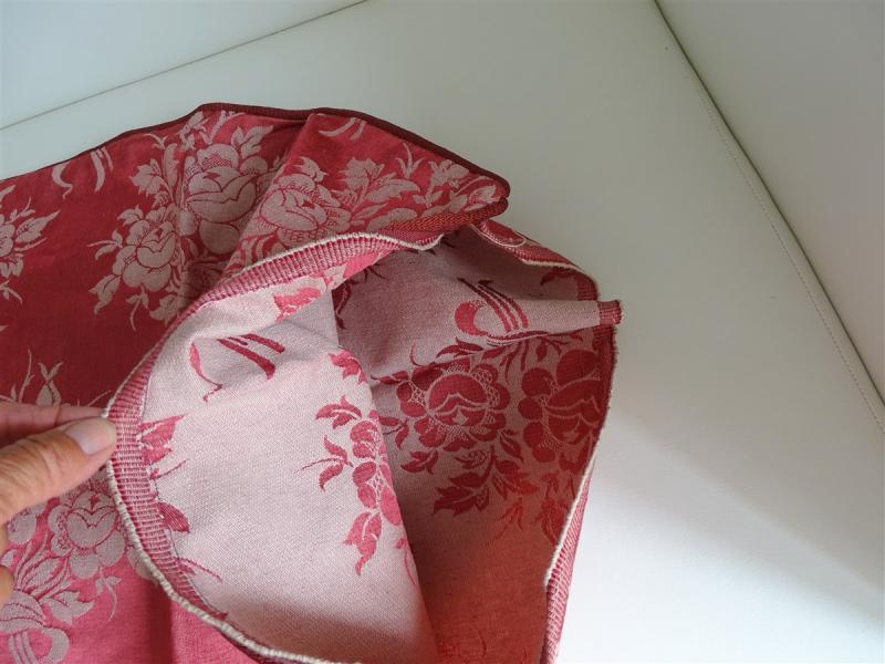 2 Housses De Coussin Soie Satin Bouquets De Roses Enrubannées-photo-3