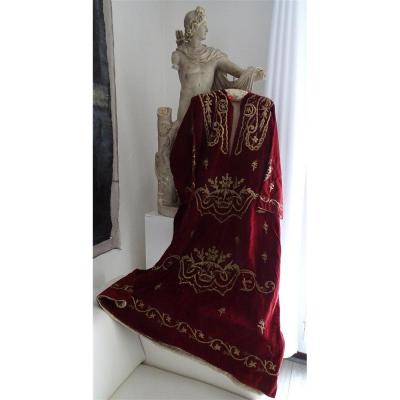 Ottoman Art Ceremonial Dress In Silk Velvet And Metallic Embroidery Turkey Nineteenth