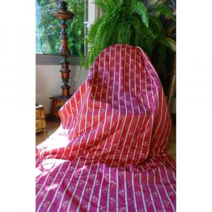 Magnificent Pair Of Pink Silk Drapes Old Curtains