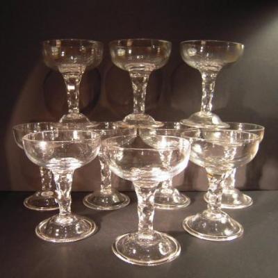 10 Coupes XVIII XIX S. En Cristal