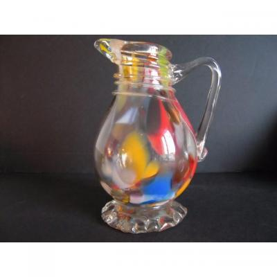 Pitcher Glass Translucent Spotted Normandy End XVIII